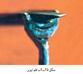 قلم مشبک کاری در کارگاه قلمزنی صنایع دستی
