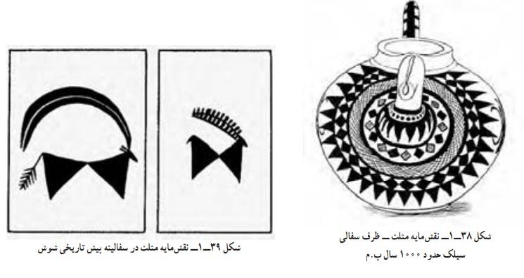 نقشمایه مثلث ــ ظرف سفالی